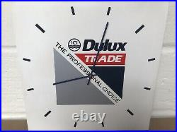 Dulux Trade The Professional Choice Wall Hanging Clock Man Cave/garage/shop