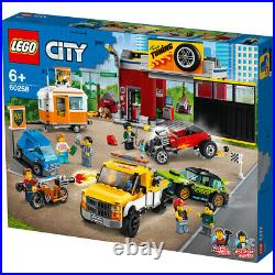 Lego 60258 City Tuning Workshop Building Set with Car, Tow Truck, Hot Rod 897pcs