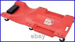 Molded Plastic Rolling Garage/Shop Creeper 40 Mechanic Cart with Padded Headrest