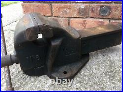 RECORD No6 LARGE ENGINEERS/MECHANIC BENCH VICE GARAGE SHED OR WORKSHOP TOOL