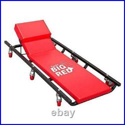 TR6452 Torin Rolling Garage/Shop Creeper 40 Padded Mechanic Cart with Red